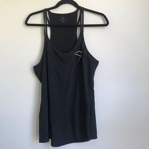 Athleta black workout running tank top